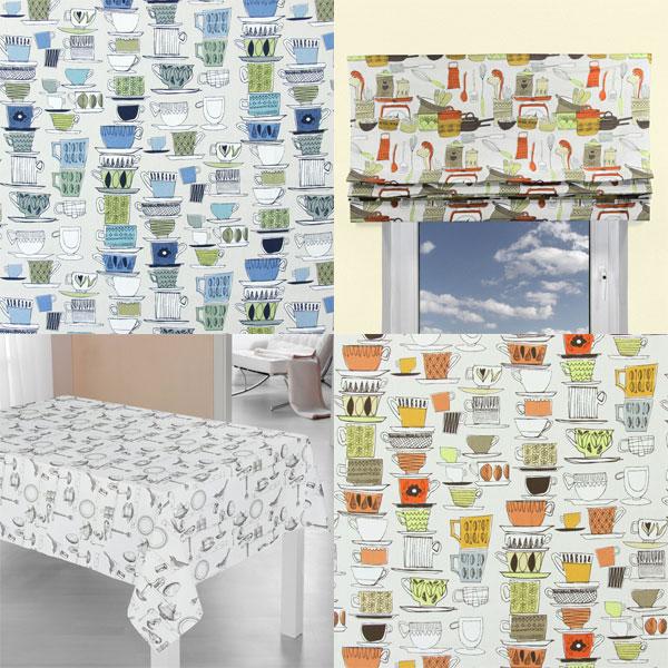 Telas de decoración con motivos de cocina