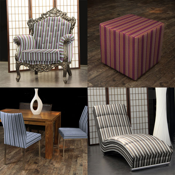 Telas para muebles con patrón gráfico