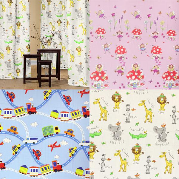 Tissus décoratifs à hauteur de pièce à motifs enfants mignons
