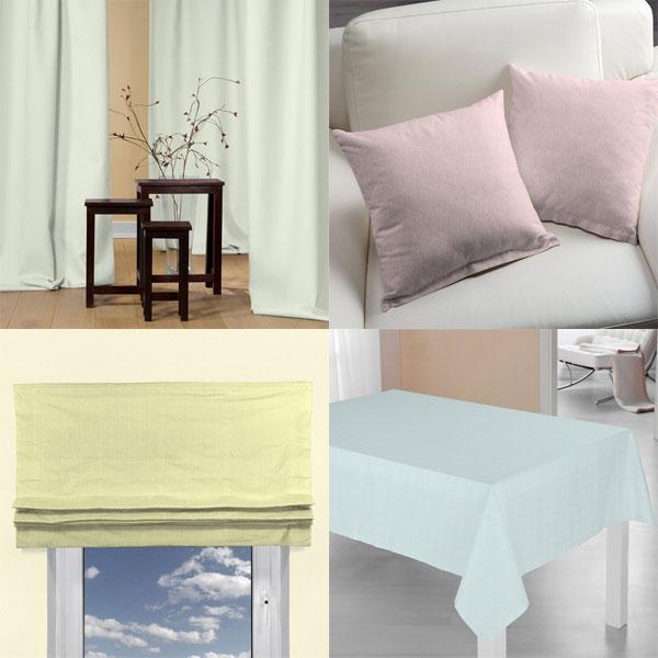 Tkaniny dekoracyjne w pastelowych odcieniach