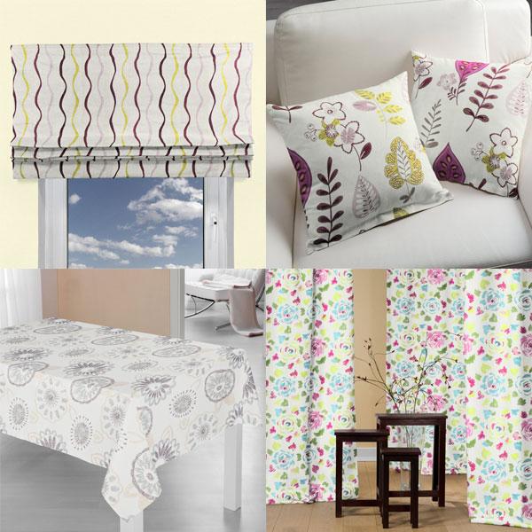 Tkaniny dekoracyjne z haftem