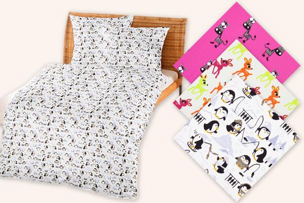 Children's fabrics with animal designs