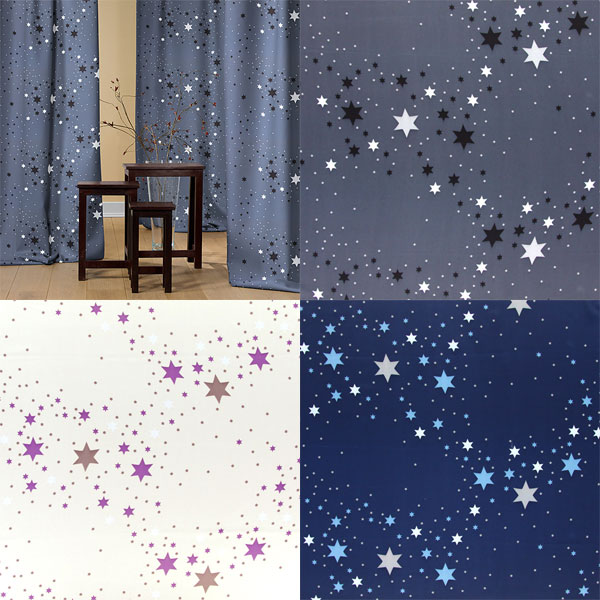 Blackout fabrics with stars