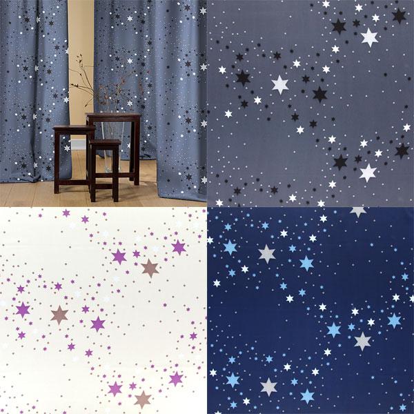 Telas de oscurecimiento con estrellas