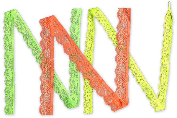Pizzo raschel in colori neon