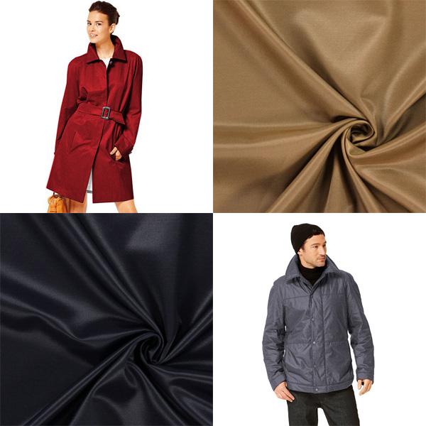 Tkaniny kurtkowe i płaszczowe z połyskiem