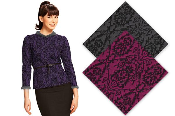 Tecidos de Jersey em Jacquard design