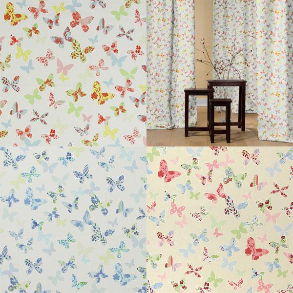 Tecidos decorativos com borboletas