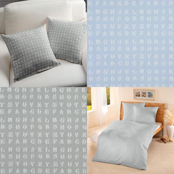 Tecidos decorativos com letras