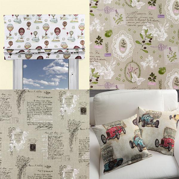 Tecidos decorativos de linho