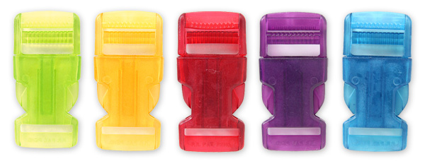 Uzávěry batohů v mnoha barvách