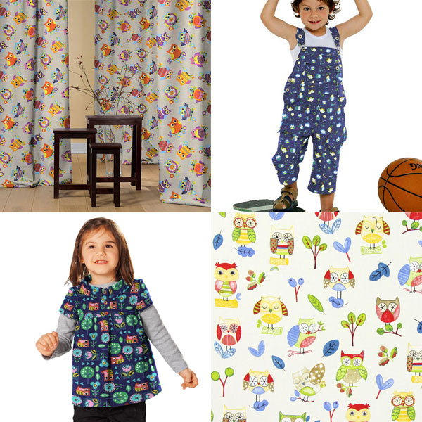 Owl fabrics