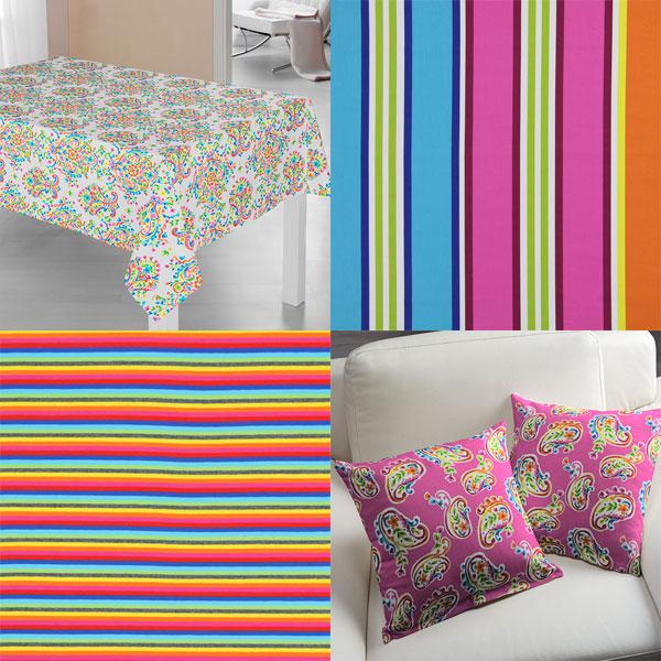 Tessuti nei colori dell'arcobaleno
