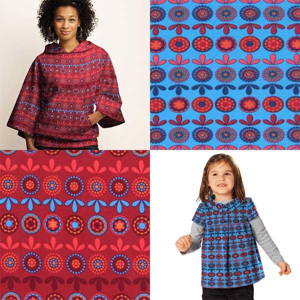 Sweatshirtstoffe mit Muster