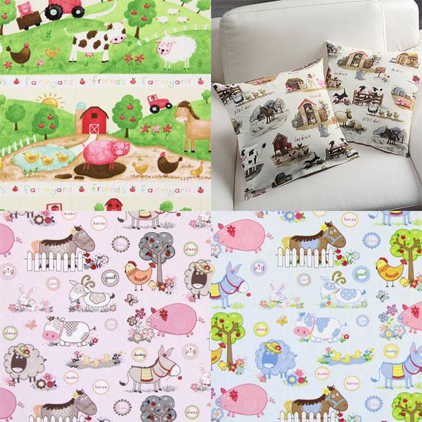 Telas de decoración para niños con motivos de animales