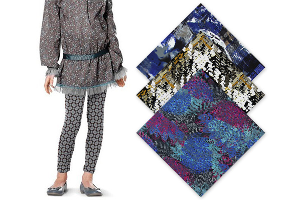 Jerseykankaat kuviolla