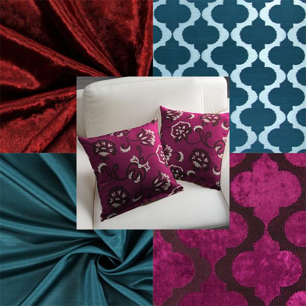 Tecidos decorativos luxuosos
