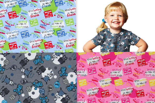Apparel fabrics for mother and child
