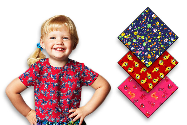 Jersey fabrics for children
