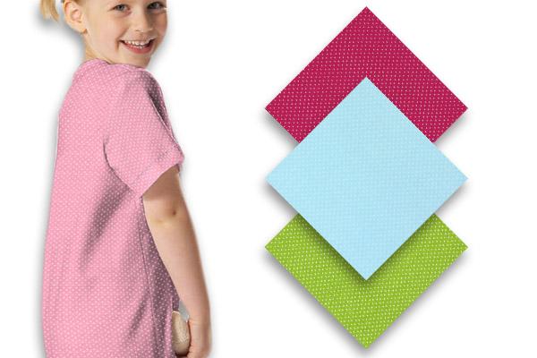 Tessuti jersey a piccoli pois