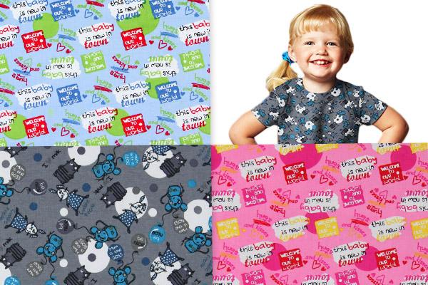 Tessuti per capi d'abbigliamento mamma e bambino
