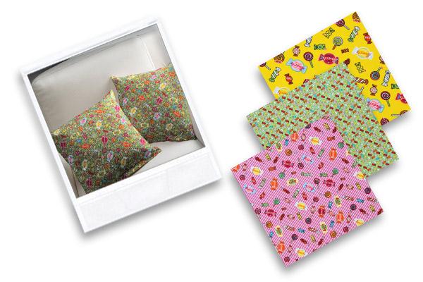 Słodkie tkaniny bawełniane