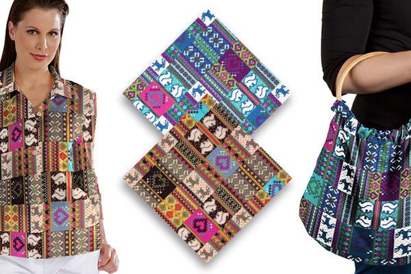 Tkanina bawełniana z norweskim wzorem