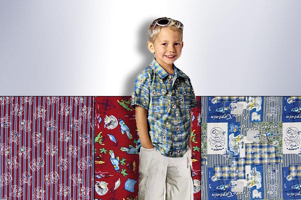 Tecidos de algodão com motivos de piratas