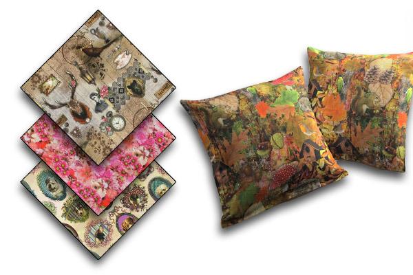 Tecidos decorativos com impressão digital