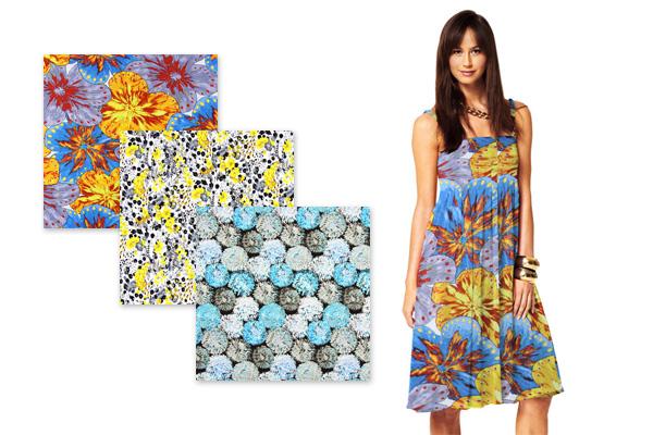 Tissus jersey à motifs floraux