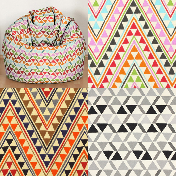 Decoration fabrics with geometrical patterns