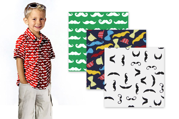Moustache fabrics