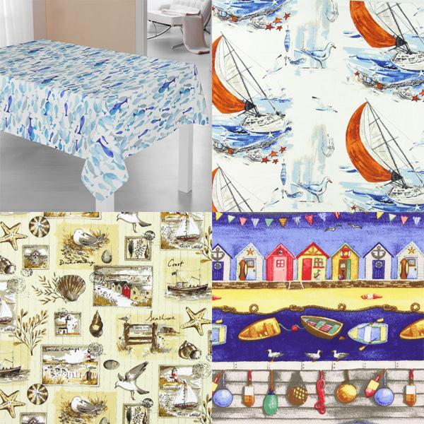 Tissus décoratifs à motifs maritimes