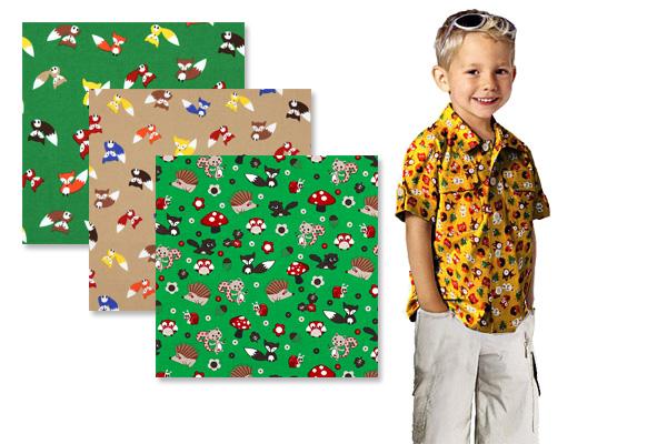 Tkaniny dziecięce w lisy