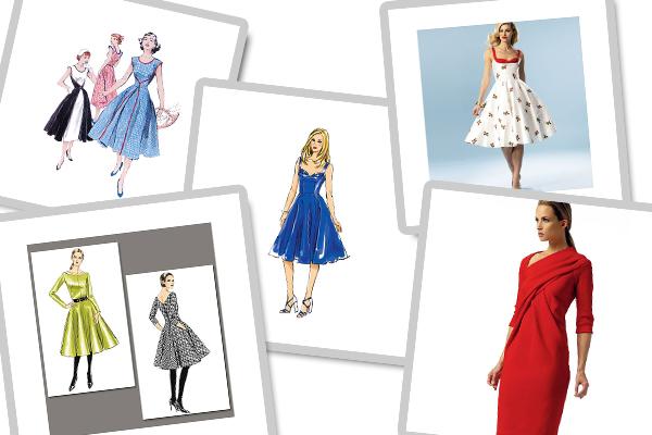 Modèle de coupe de Vogue, Butterick et McCalls