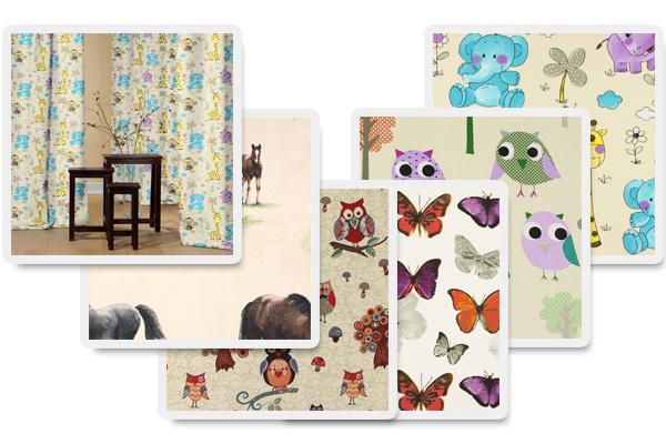 Tkaniny dekoracyjne z motywem ze zwierzątkami