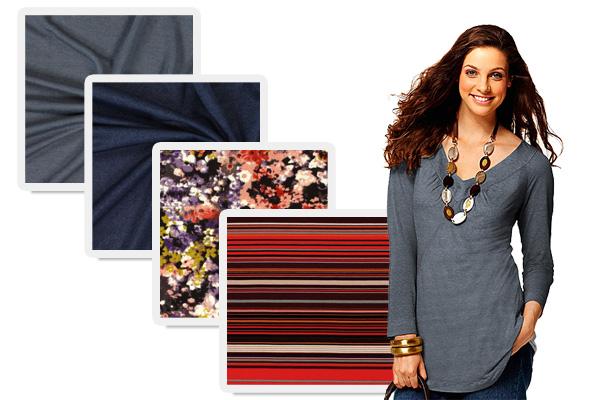 Discounted jersey fabrics