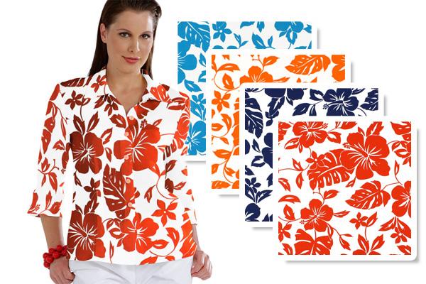 Tecidos de decoração com flores