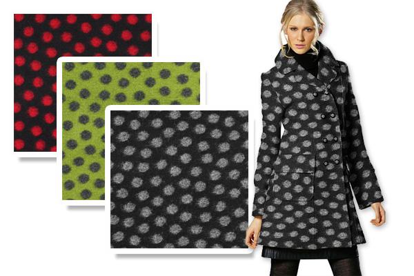 Lã cozida com padrões
