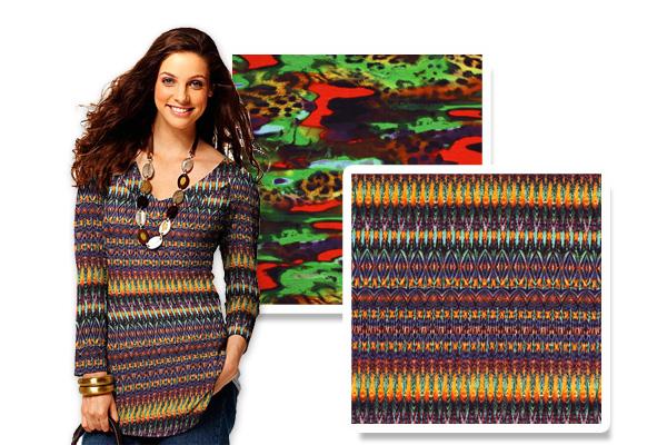 Romanitjersey med mönster