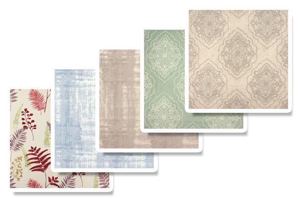 Dekorační látky v pastelových odstínech značky prestigious textiles