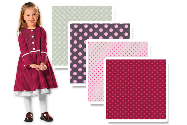 Cotton fabrics with dots