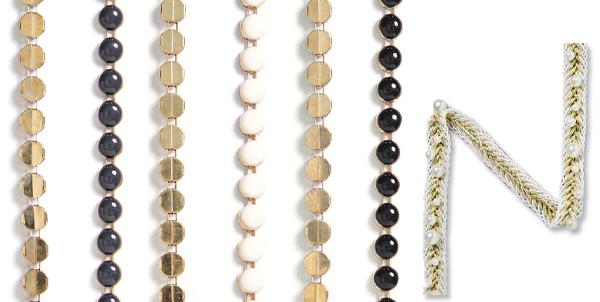 Bordiury z perełkami