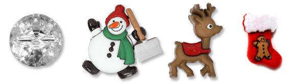 Botões de Natal