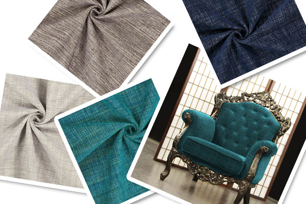 Upholstery fabrics with chenille thread
