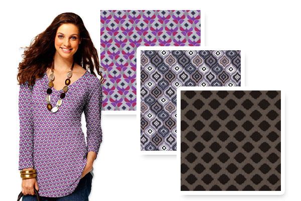 Tkaniny dżersejowe w geometryczne wzory