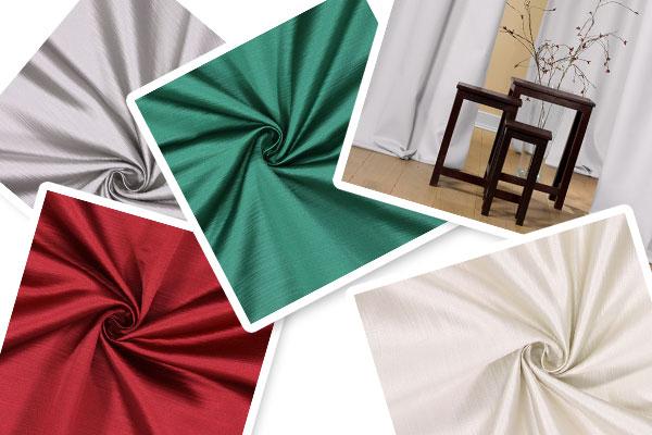 Tecidos para decoração com brilho acetinado