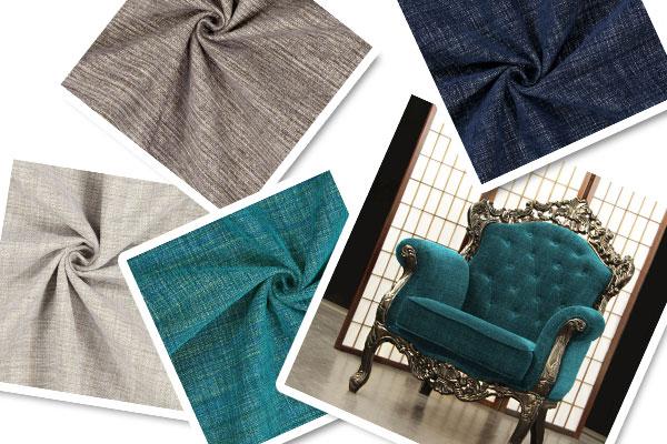 Tecidos para mobiliário com chenille