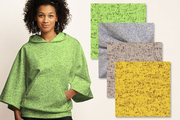 Broderad fleece
