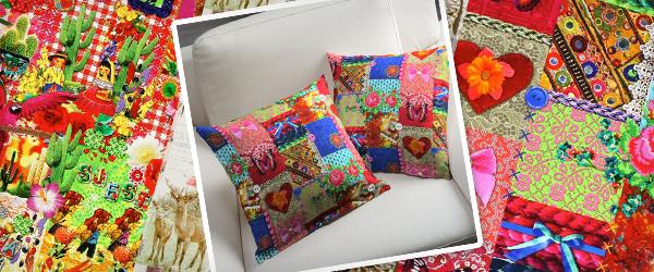 Tkaniny dekoracyjne z nadrukami w intensywnych barwach